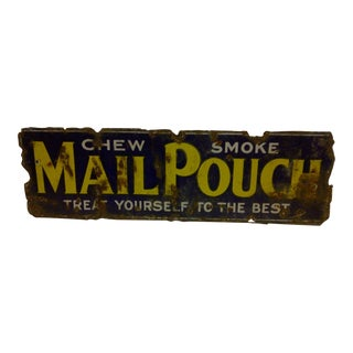 "1940 ""Mail Pouch"" Porcelain Sign"