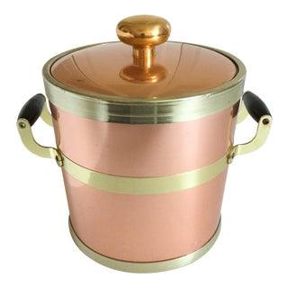 Vintage Kraftware Copper & Brass Ice Bucket