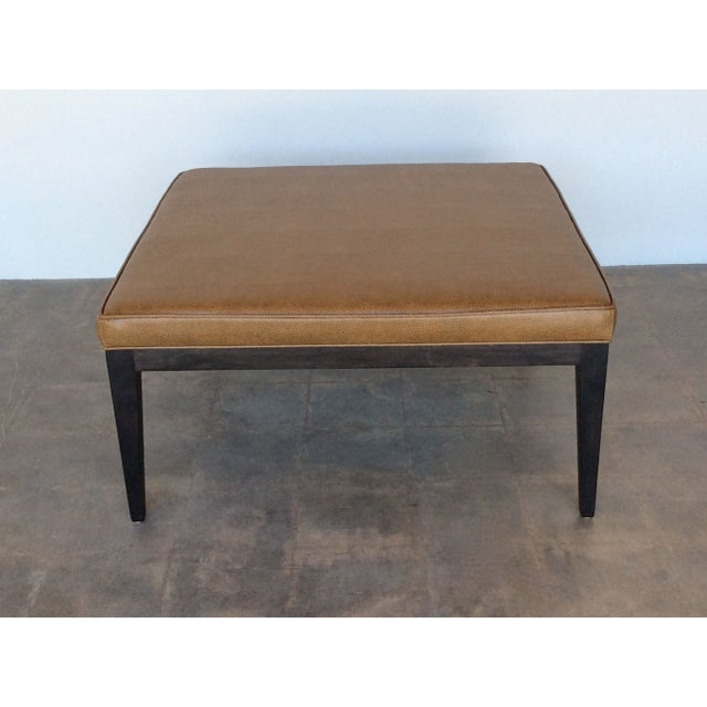 Contemporary Caramel Faux Leather Coffee Table Chairish