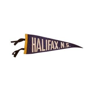 Vintage Halifax, NS Felt Flag