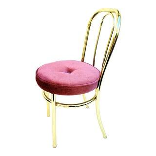 Vintage George Koch Hollywood Regency Brass Chair