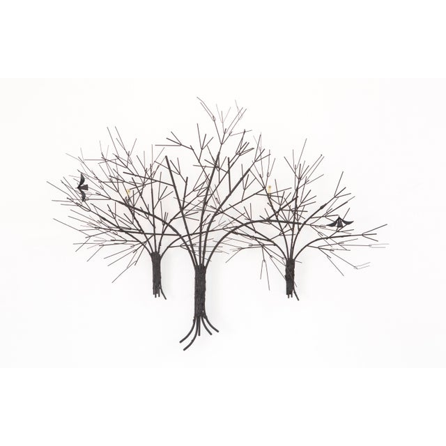 Image of C. Jere Wall Sculpture 'Birds & Trees'
