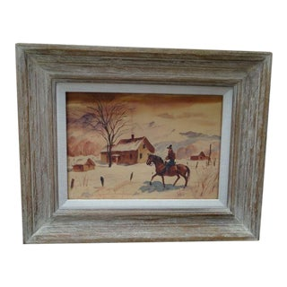 Charles Payzant Double-Sided Western Watercolor