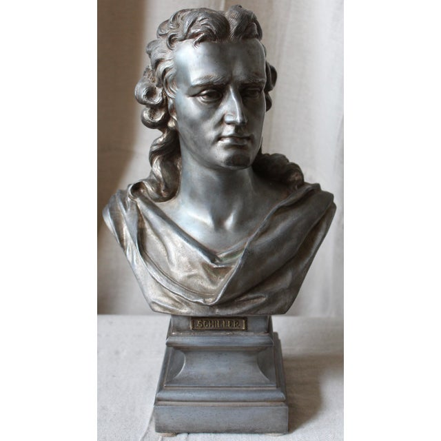 Spelter Bust of Schiller - Image 2 of 10