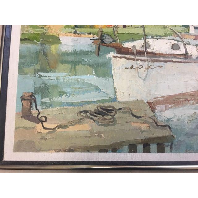 Stefan Lokos Boat At the Marina Painting - Image 9 of 11