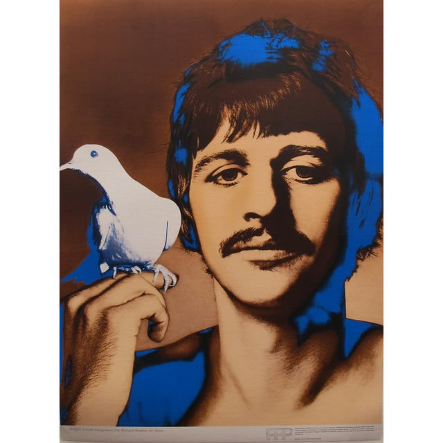 Vintage 1967 Ringo Starr Poster by Richard Avedon, the Beatles - Image 1 of 3