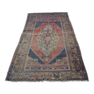 Turkish Handmade Oushak Rug - 4′3″ × 6′11″