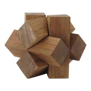 Teak Wood Sculpture Puzzle
