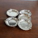 Image of Vintage Silver Metal Ashtray - Set of 5