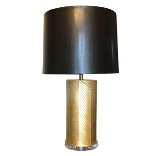 Westwood Lamp - Gold & Black - A Pair