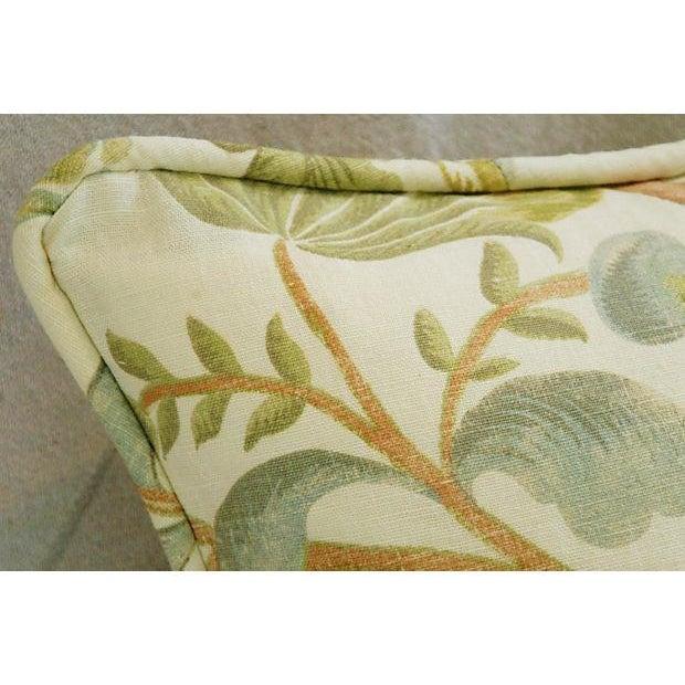 Designer Custom Acquitaine Lyceana Floral Pillow - Image 4 of 5