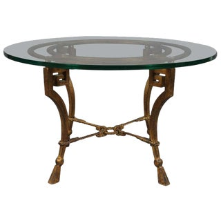 Ramsay Table in Gilt Forged Iron