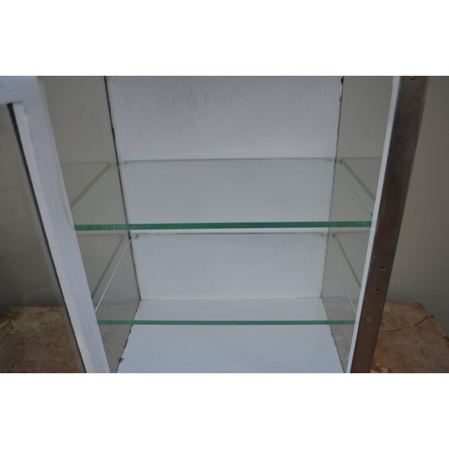 Image of Barber Shop Cabinet With Glass Sides & Shelves
