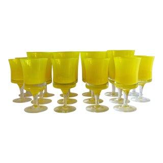 Denby Red Wine & White Wine Glasses - Set of 16