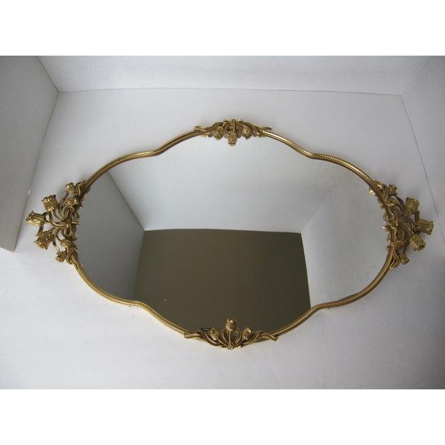 Image of Mid-Century Tulip Mirrored Vanity Tray