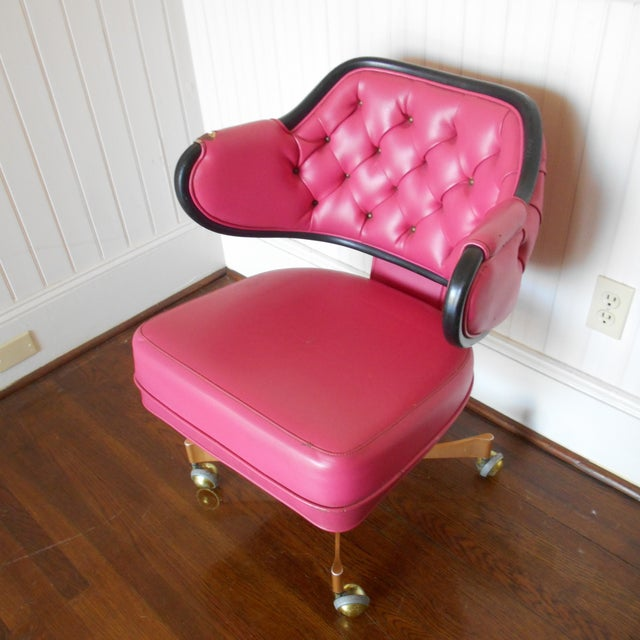 Pink Tufted Swivel Chair - Image 6 of 10