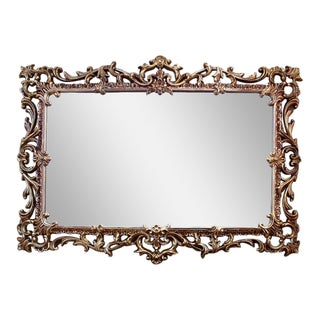 Exquisite Large Ornate Syroco Gold Mirror
