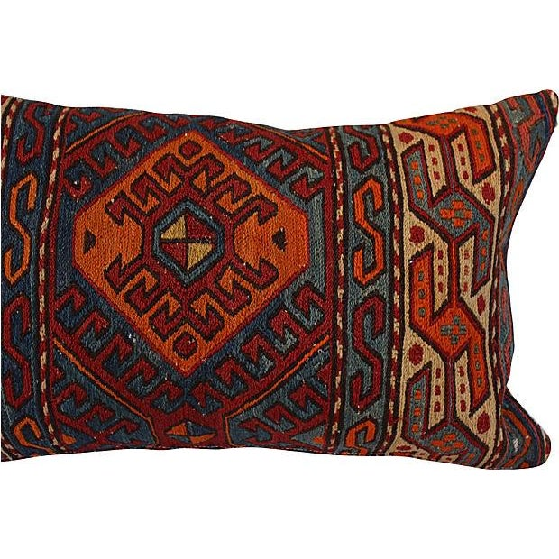 Antique Turkish Woven Rug Pillow