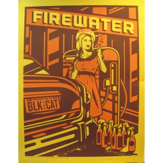 2012 American El Jefe Concert Poster, Firewater