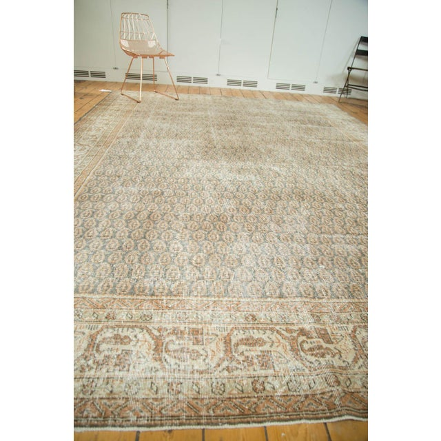 "Vintage Distressed Oushak Carpet - 8'11"" x 12'6"" - Image 10 of 10"