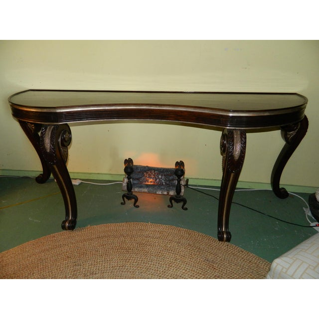 Dessin Fournir Carved Scroll Legs Console Table - Image 2 of 11