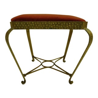 Pair of Italian Hand-Hammered and Gilt Iron Benches by Pier Luigi Colli