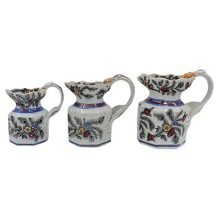 Antique Lustre & Dragon Handle Jugs- Set of 3