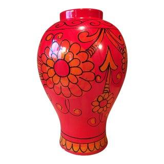 Bellini for Raymor Red Pottery Floor Vase