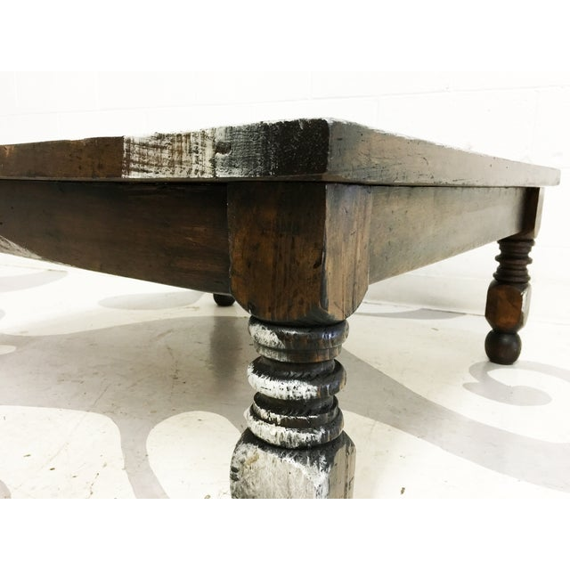 Vintage Mexican Hand Painted Pine Coffee Table - Image 6 of 7