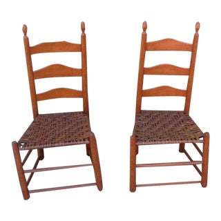Pair of Shaker Style Ladderback Chairs
