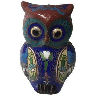 Vintage Cloisonné Owl