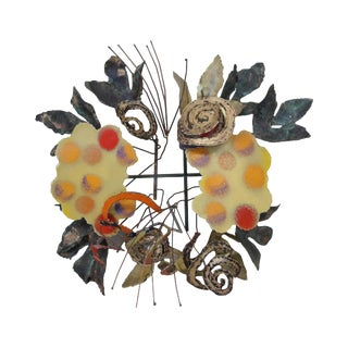 Curtis Jere Colorful Metal Wall Hanging Sculpture