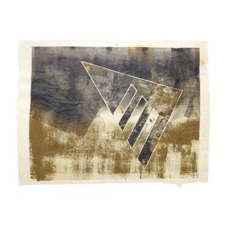 Black and Gold Mono Print by Martha Holden