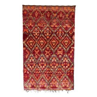"Vintage Beni M'Guild Moroccan Berber Rug - 6'0"" X 10'1"""