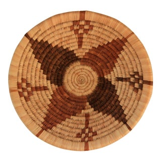 Handwoven African Shallow Basket