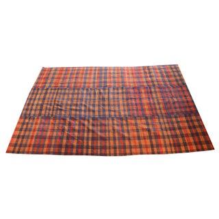 Vintage Turkish Wool Flatweave Rug - 6′ × 9′