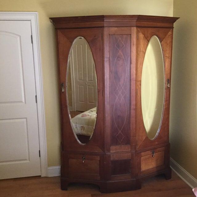 Antique English Walnut Wardrobe - Image 8 of 11