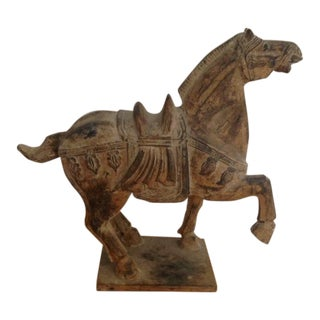 Chinese Tang Style Prancing Horse Sculpture