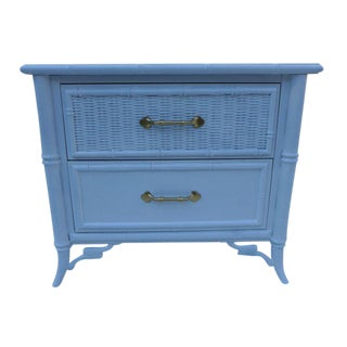 Hollywood Regency Faux Bamboo Nightstand
