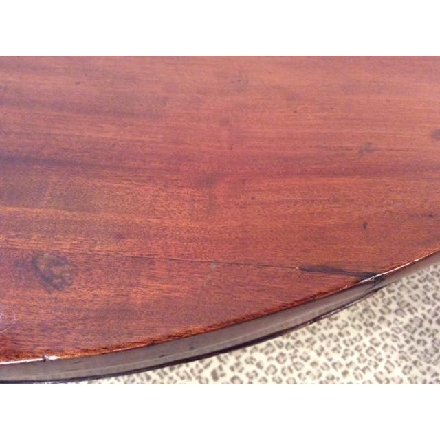 Image of Antique Mahogany DemiLune Hall Table