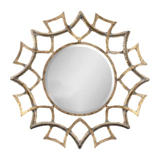 Round Gold Metal Mirror