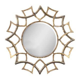 Round Gold Metal Mirror