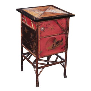 English Bamboo & Lacquered Stand