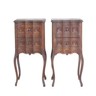Bohemian Nightstands with 2 Drawers - A Pair
