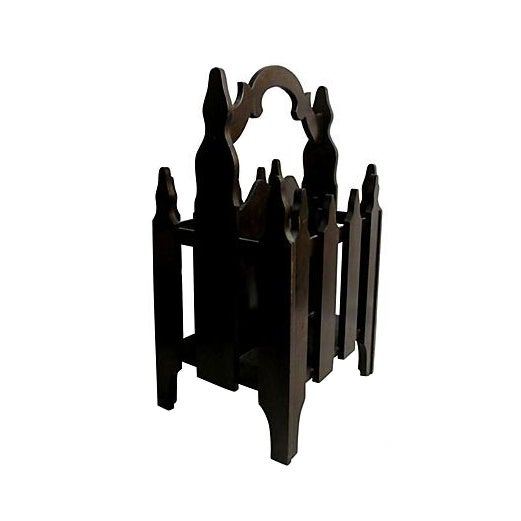 Image of Antique 1920s Picket Fence Magazine Rack