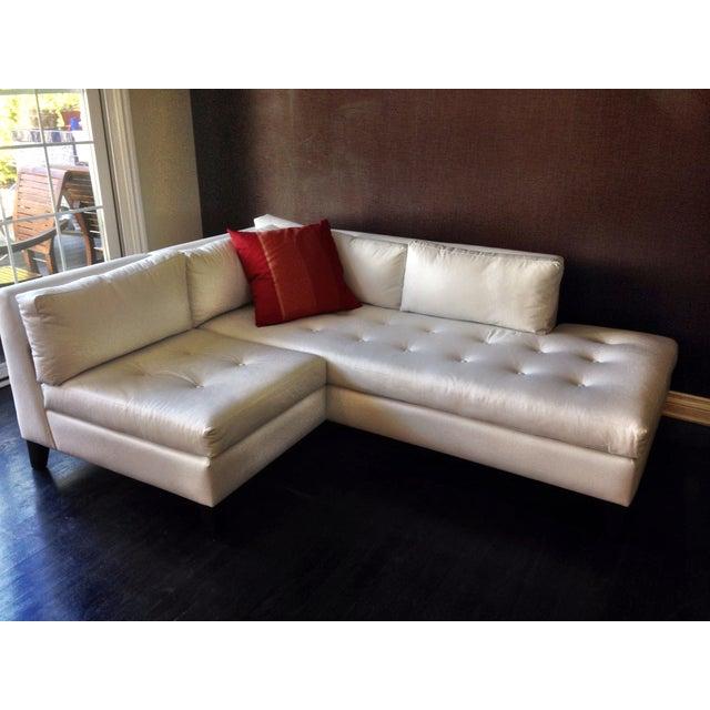 Modern White Faux Leather L Shaped Sofa Chairish