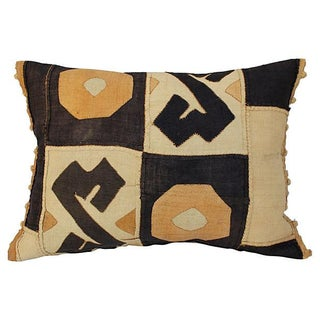 African Kuba Patchwork Pillow