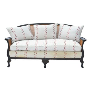 Chinoiserie Cane Back Settee