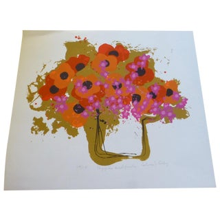 """Calvin Libby """"Poppies and Junk"""" Mod Floral Print"""