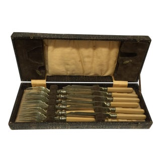 1930's EPNS Fish Knife and Fork Set